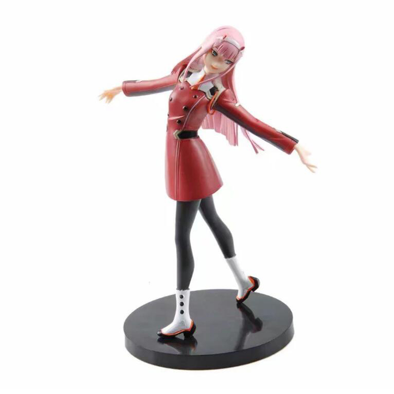 DARLING in the FRANXX 02 model anime action figure Zero Two 21cm collection toys figures Christmas gift F7269 new zero two cosplay costumes 002 darling in the franxx dyesub printed zentai bodysuit women girls lady lycra female plugsuit