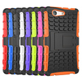 For Sony Xperia Z3 Compact Z3 mini Z2 Z4 Z5 Premium M4 M5 E4 E4G Heavy Duty Hybrid Impact Rugged Case With Kickstand Cover Case