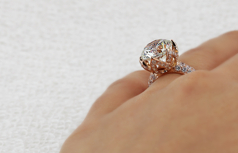242af4821 pt950 Stamp Luxury 4carat diamond rings lab,Solitaire with Accents  engagement & wedding rings micro pave gold diamond pave ring-in Rings from  Jewelry ...