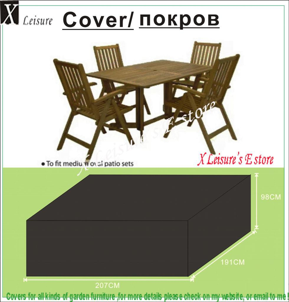 Cover for garden table and chairs - Free Shipping Wooden Chair And Table Set Cover 207x190x98 Cm Garden Furniture Cover Water