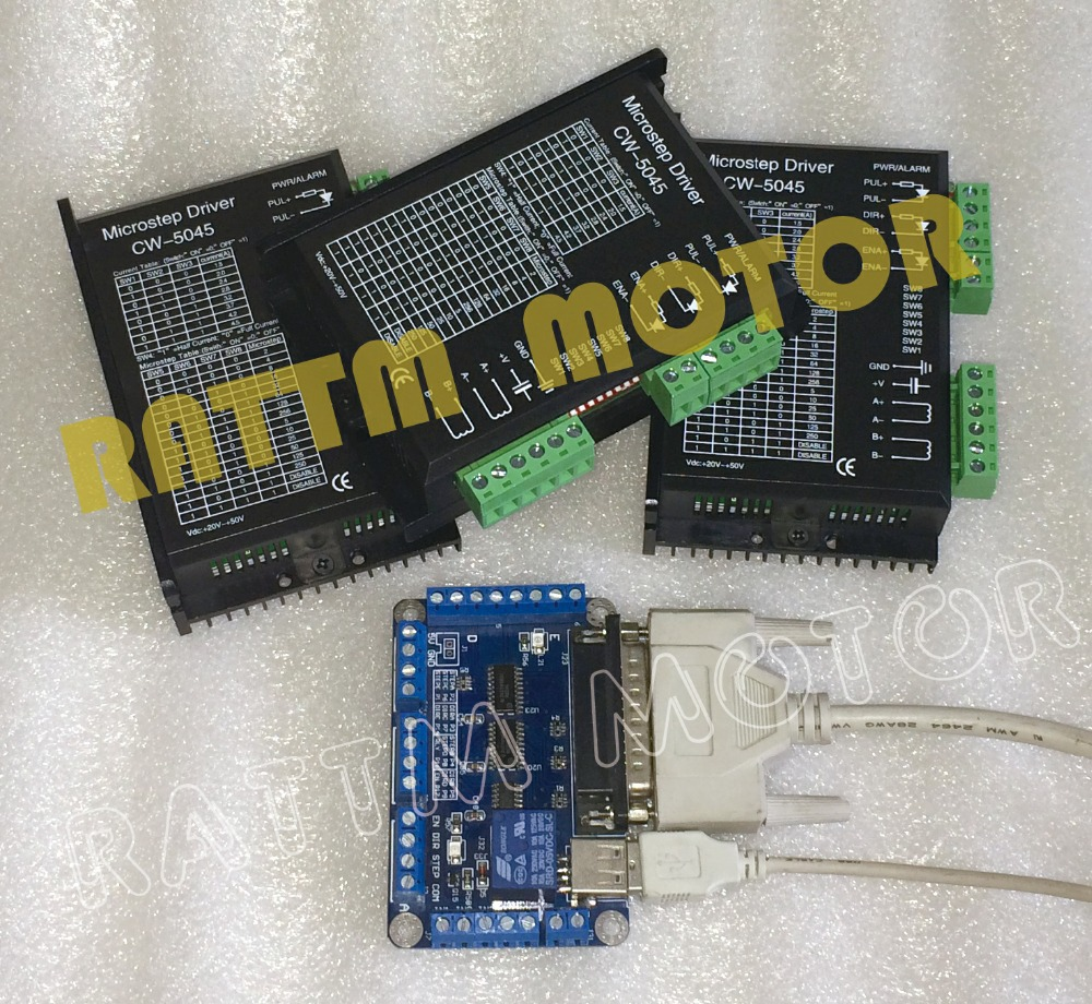 Hot Recommend!! 3 Axis CNC stepper controller kit motor driver 20-50V/4.5A/256 micsteps CNC Router with 5Axis breakout board hot selling small equipment business with stepper motor cnc router 600 900mm 600 400mm