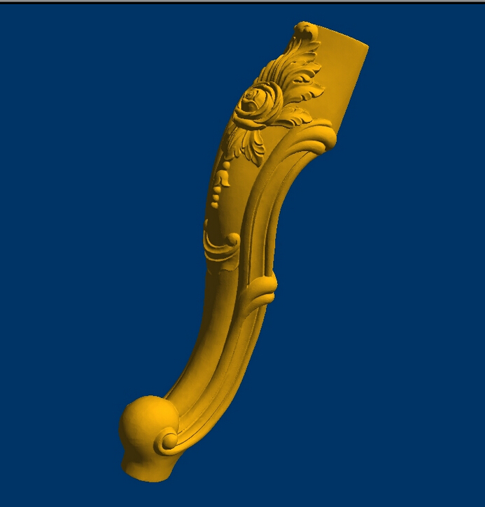 Tea table leg 3d  model relief  for cnc in STL file  format--Furniture leg--81 model relief for cnc in stl file format 3d panno bird 1