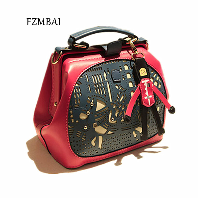 b55666a1f5 Detail Feedback Questions about FZMBAI spring bag cutout pu shoulder bag  hollow out messenger bag lady casual handbag vintage small bag on  Aliexpress.com ...