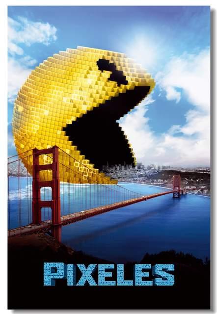Online Shop Custom Canvas Wall Paintings Pixels Movie Poster Pixels Wall Sticker  Mural Game Pac Man Wallpaper Kids Bedroom Decoration #0433# | Aliexpress ...