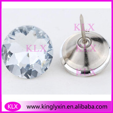 (100pcs/lot) 30mm Clear crystal Sofa Button with pins  for Furniture  Accessories