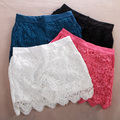P276 women 2016 new summer large sizefashion high waist lace skirt shorts