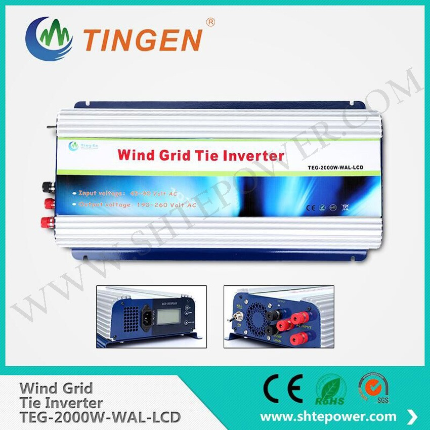 Pure Sine Wave AC 48V to AC 220V Power Inverter, 2000W Grid Tie Inverter with LCD Display