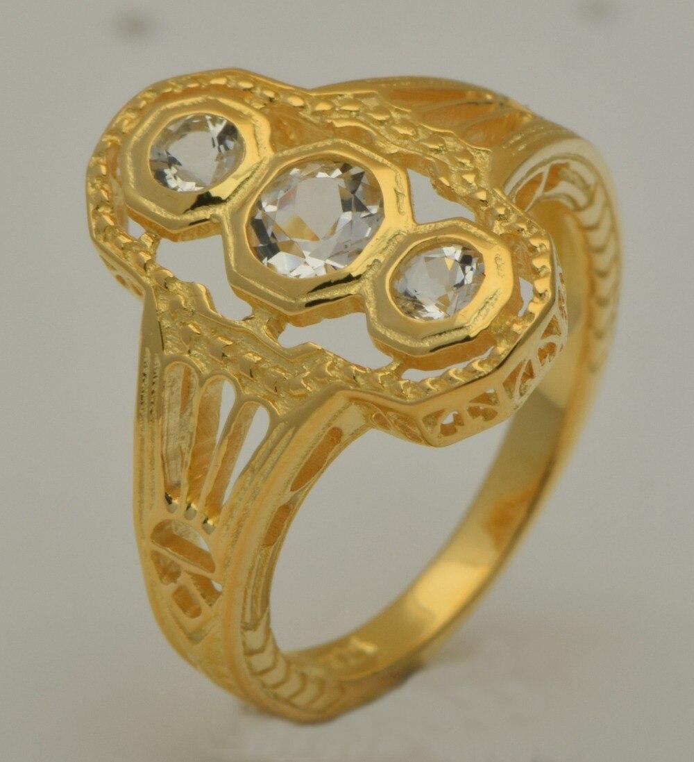 Livraison gratuite bijoux en or 18 k de luxe de style occidental personnalisé femmes mode 925 argent agit le rôle de bague en zircon blanc naturel