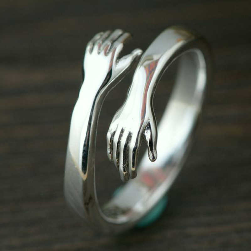Bohemian Vintage Silver Color  Hand Rings For Women Punk Big Antique Open Rings Statement Finger Jewelry 6
