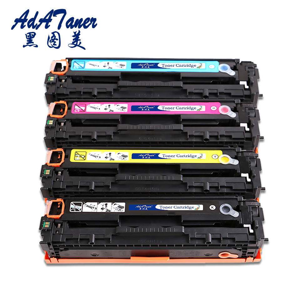 1Set CE320A CE321A 128A Compatible Toner Cartridges Replacement for HP Color LaserJet Pro CM1415fn CM1415fNW MFP CP1525N CP1525 картридж nv print magenta для laserjet color pro cp1525n cp1525nw cm1415fn cm1415fnw 1300k nv ce323am