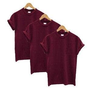 Image 3 - 3 Pcs Women T shirt Cotton Short Sleeve O neck Funny Summer Tops Streetwear Tshirt Women Casual Solid Clothing Plus Size
