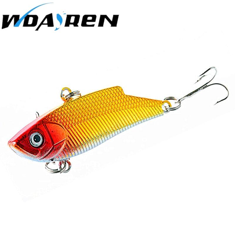 WDAIREN 1PCS Metal VIB Fishing Wobblers 3D Eyes Bait Treble Hooks Fishing Lures 5.5cm 10g Good Quality Crank bait FA-315 stels navigator 310 2015
