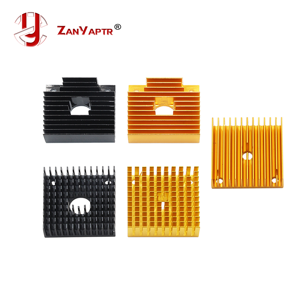 3d Printer Heat Sink MK7 MK8 Extruder Aluminum Block 40x40x11 Mm For MK7 Extruder MK8
