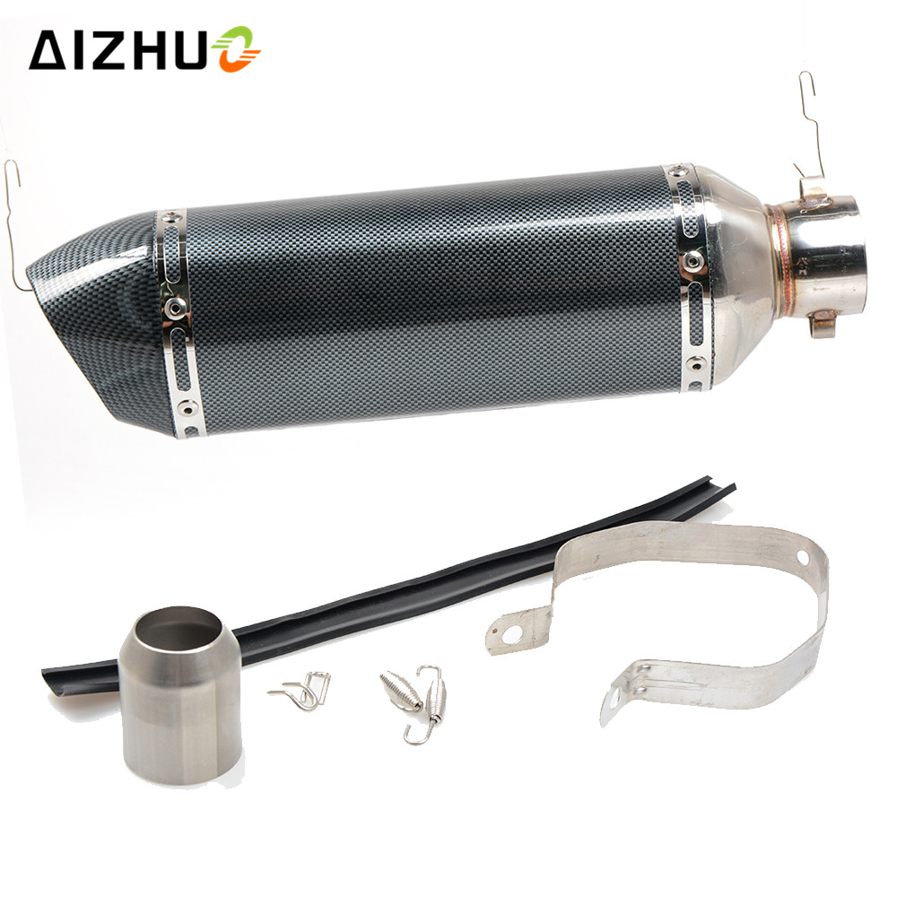 36-51MM Motorcycle Exhaust Muffle Pipe Stainless Steel Exhaust Pipe FOR DUCATI 750 1000 M900 1100 400 620 695 696 796 MONSTER for ducati monster 696 695 796 400 620 797 m 600 m 900 m 620 cnc motorcycle adjustable foldable extendable brake clutch levers
