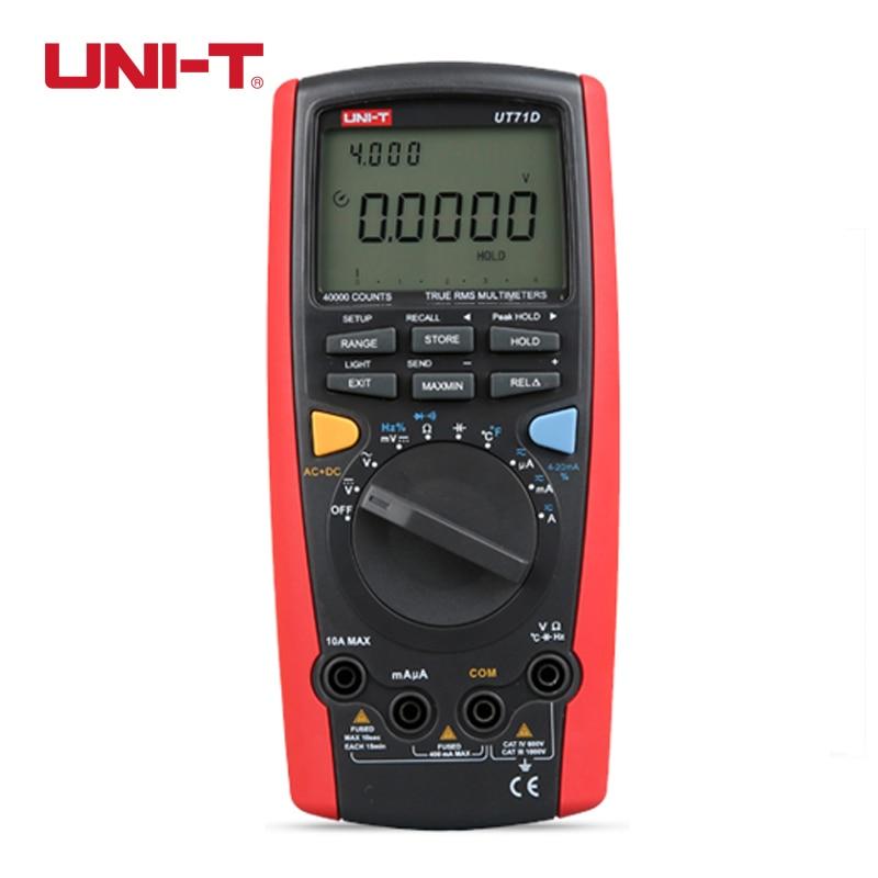 UNI-T UT71D Digital Multimeter Intelligent C/F Thermometer Voltmeter Ammeter Auto Range True RMS Multi Testers Voltage Current  цены