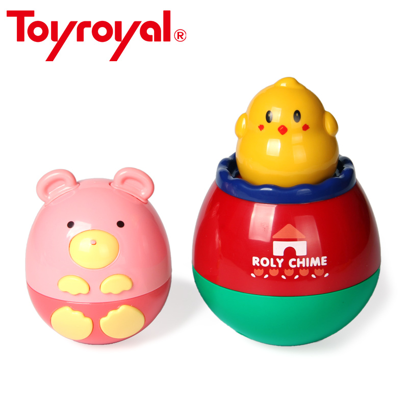 ToyRoyal Baby Roly Poly Chime Chick Bear Rattle Toys For Children Developmental Toys Christmas Birthday Gift