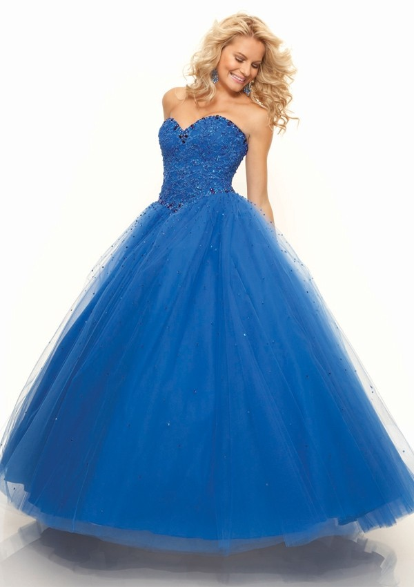 Popular Blue Sweetheart Prom Dress-Buy Cheap Blue Sweetheart Prom ...
