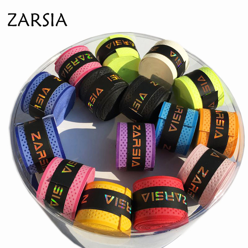 60pcs ZARSIA Pressure Point Tennis Racket Grip Dry Feel Badminton Racquet Overgrip 11 Colors