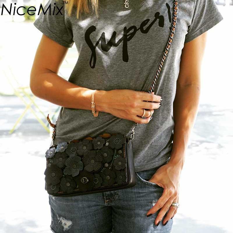 NiceMix Brand New Summer T shirt Fashion Crop Top T-shirt American Womans Short Tops Cropped Shirt Femme
