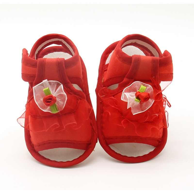 Flor Crianças Sandálias Para Meninas Sapatos Princesa Verão Tecido de Algodão Da Criança Do Bebê Crianças Macio Menina Sandália Sapatos j2