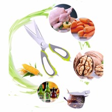 2017 Multifunction Kitchen Scissors Cutter Stainless Steel Shears Vegetables Meat Cooking Tools
