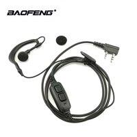 cb רדיו 1 / 2pcs Baofeng UV-82 2 פין מכשיר הקשר Dual אוזניות PTT אפרכסת Baofeng UV-82HP UV-82XH UV-8D DMR CB רדיו Ecouteur אוזניות (1)