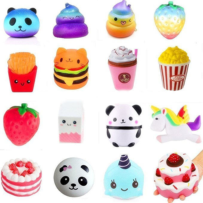 18 Type Cake/Ice Cream/Food Squishy Jumbo Slow Rising Squishy Toys Kawaii Squishies Antistress Funny Squeeze Toy For Kids slow rebound and decompression toy strawberry cake jumbo squishy