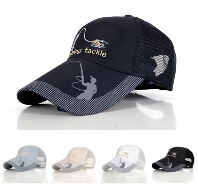 new font men fishing cap simms baseball hat