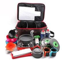 Походная сумка для пикника, походная переносная сумка для хранения еды, походная посуда для пикника, набор посуды для улицы, горшок, бензобак