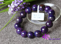 Wholesale High Quality Genuine Natural Purple Sugilite More Blue Stretch Finished Beaded Men's Bracelet Round Big beads 13 03213