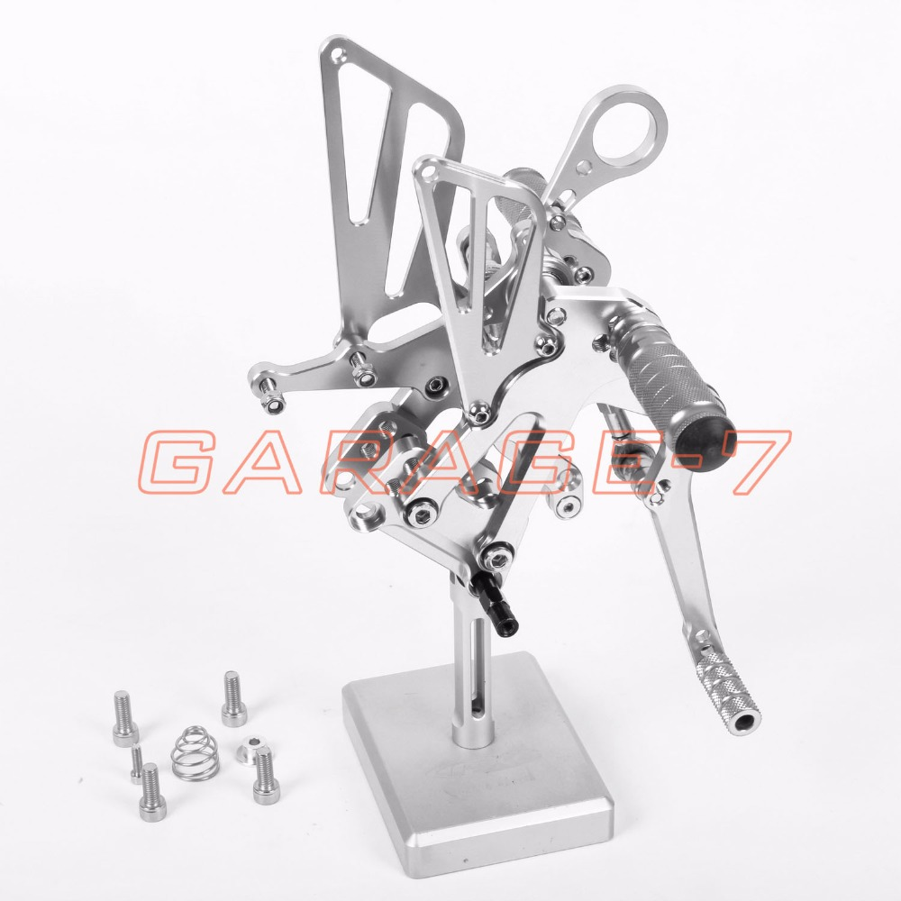 For BMW S1000RR 2010-2011 Rearsets Foot Pegs Rear Set Motorcycle Foot Pegs Hot Sale Motorcycle Silver CNC T6061 Aluminum Alloy