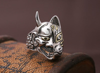 S925 sterling silver jewelry Japan prajna mask silver ring personality men creative ring CJZBLXLX04715