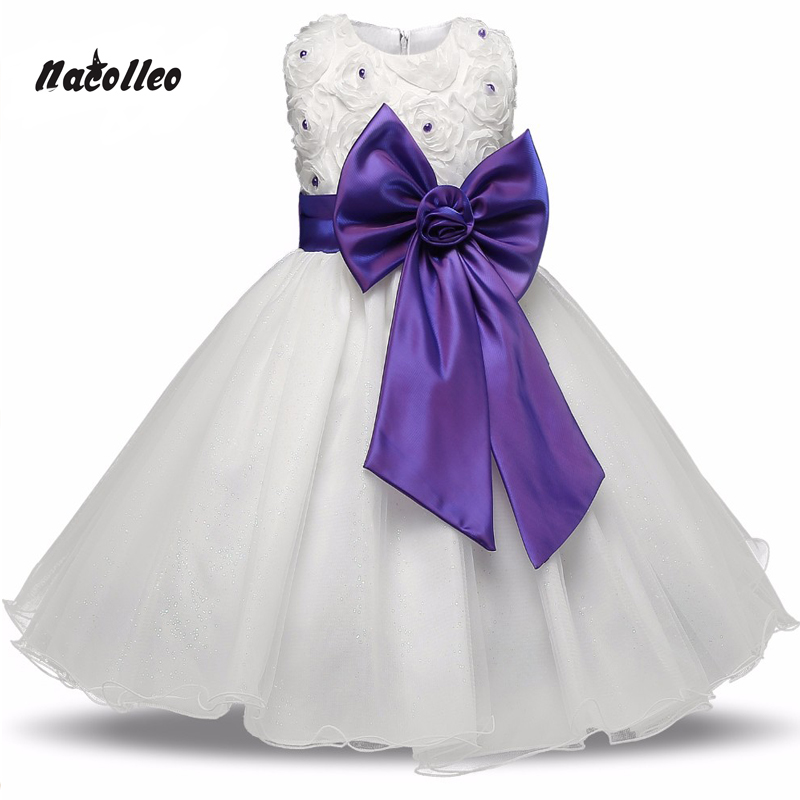 Flower Girl Dresses for Weddings Pageant White First Holy Lace Communion Dress Little Toddler Child Flower Girls Party Vestido чемодан eminent pc 9g7