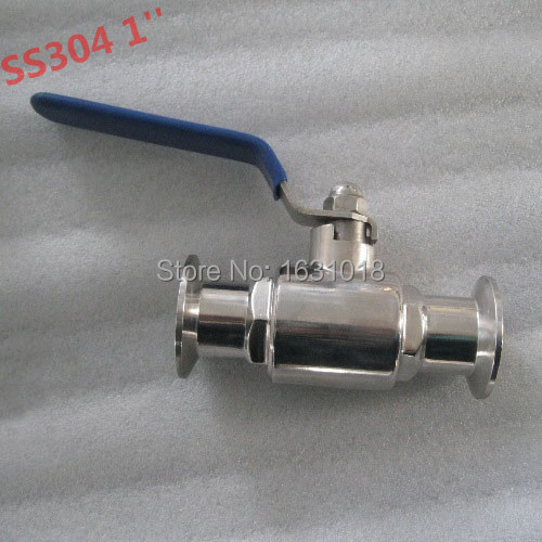 1 inch 25mm stainless steel ball valve 2 way manual food grade sanitary clamp 304 - Sunday Online Shop store