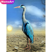 MomoArt DIY Diamond Painting Brid Full Drill Embridery Square/round Rhinestone Mosaic Animal