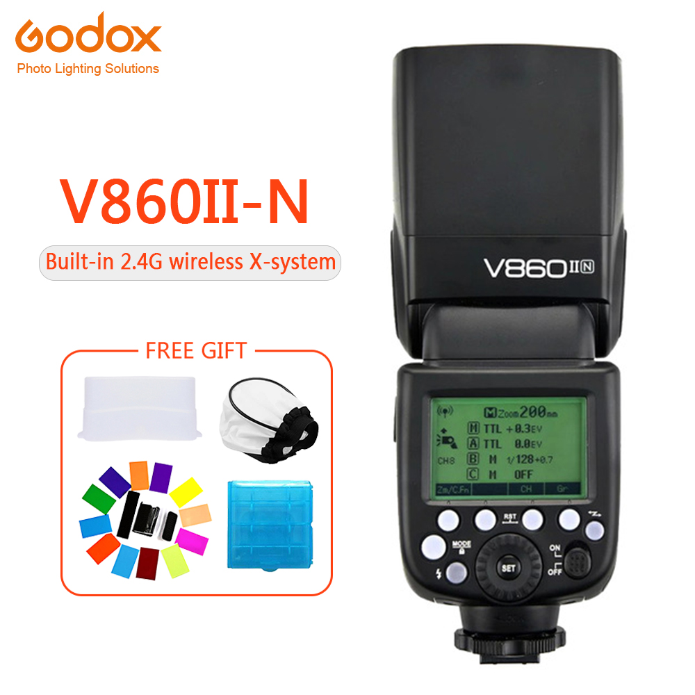Godox Ving V860II V860II-N E-TTL HSS 1/8000 Li-ion Batterie Flash Speedlite pour Appareil Photo Nikon D800 D700 D7100 D700