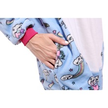 27 Styles Animal Pajamas Flannel Winter Women Men Unicorn Stitch Panda Pikachu Onesie Sleep lounge Sleepwear Cosplay Costume