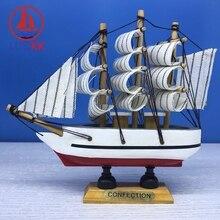 цены на LUCKK 14CM Mediterrean Style Wooden Model Ship Nautical Home Interior Decoration Sea Crafts Figurine Marine Sailboat Souvenir в интернет-магазинах