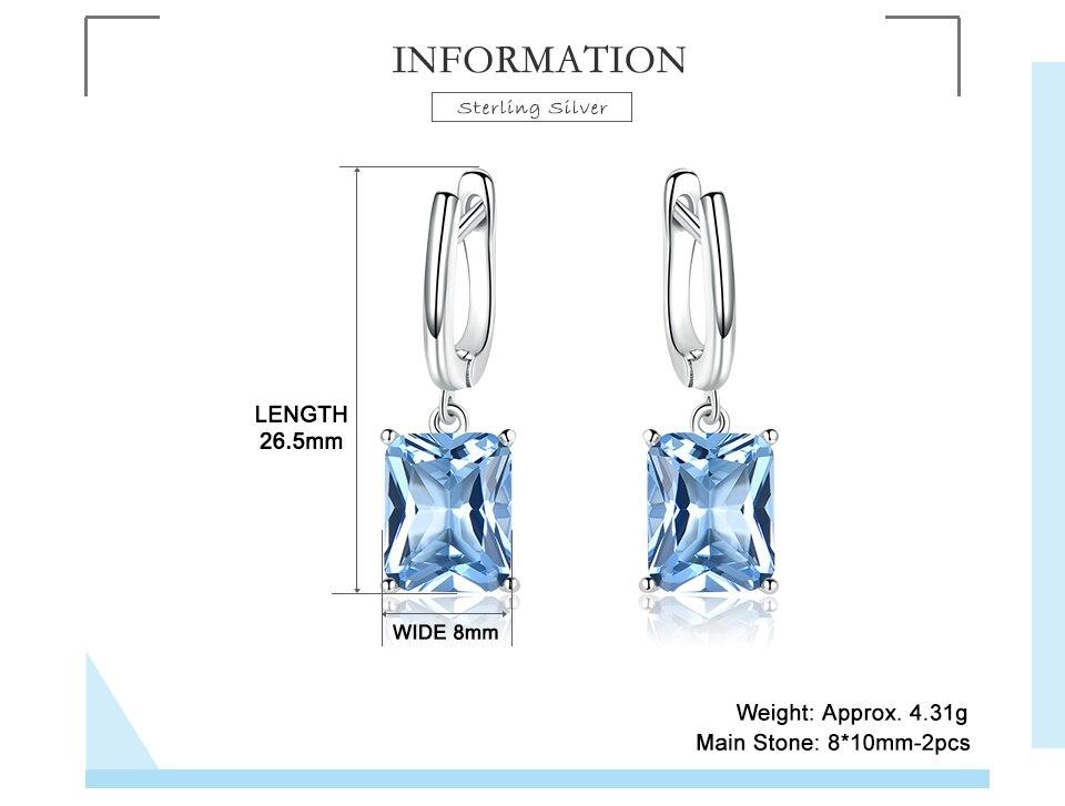 UMCHO ?Nano Sky Blue Topaz 925 sterling silver earring for women EUJ094B-1-pc (2)