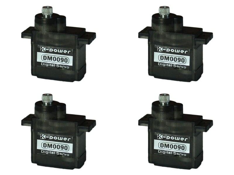 Micro Servo à engrenages métalliques 9G à couple élevé pour Trex aligner 450 RC Heli k-power DM0090 * 4 (prise: JR)