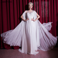 ecf613da4a5d4 JaneVini Elegant White Chiffon Mother Of The Bride Dresses A Line Beading  Long Evening Gowns With