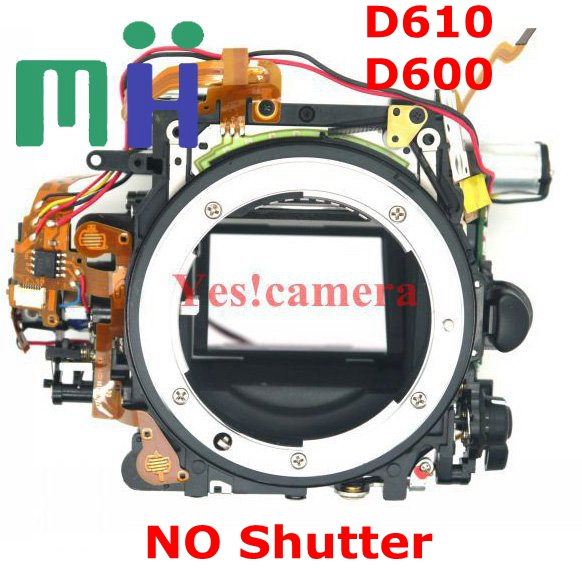 For Nikon D600 D610 Front Main Body Frame Mirror Box with Aperture Motor Diphragm Unit NO