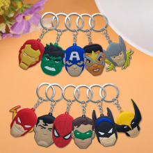 20pcs/lot Avengers PVC Keychain Key Trinket Key Ring Gift For Women Girls Bag Pendant PVC Figure Charms Drive Saft Key Chains цена и фото