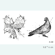 Pigeon Eagle Waterproof Temporary Tattoo Stickers for Adults Kids Body Art  Fake Tatoo for Women Men Tattoos A-102