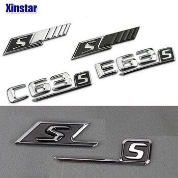 ABS S Badge auto achter embleem sticker voor Mercedes Benz w117 cla45 w205 c63 w212 e63 w207 w176 a45 x156 gla45 w204 AMG Styling