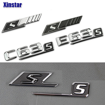 ABS S insignia pegatina trasera con emblema para coche para Mercedes Benz w117 cla45 w205 c63 w212 e63 w207 w176 a45 x156 gla45 w204 AMG estilo
