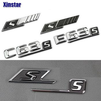 ABS S odznaka z tyłu samochodu naklejka z logo dla Mercedes Benz w117 cla45 w205 c63 w212 e63 w207 w176 a45 x156 gla45 w204 AMG stylizacji