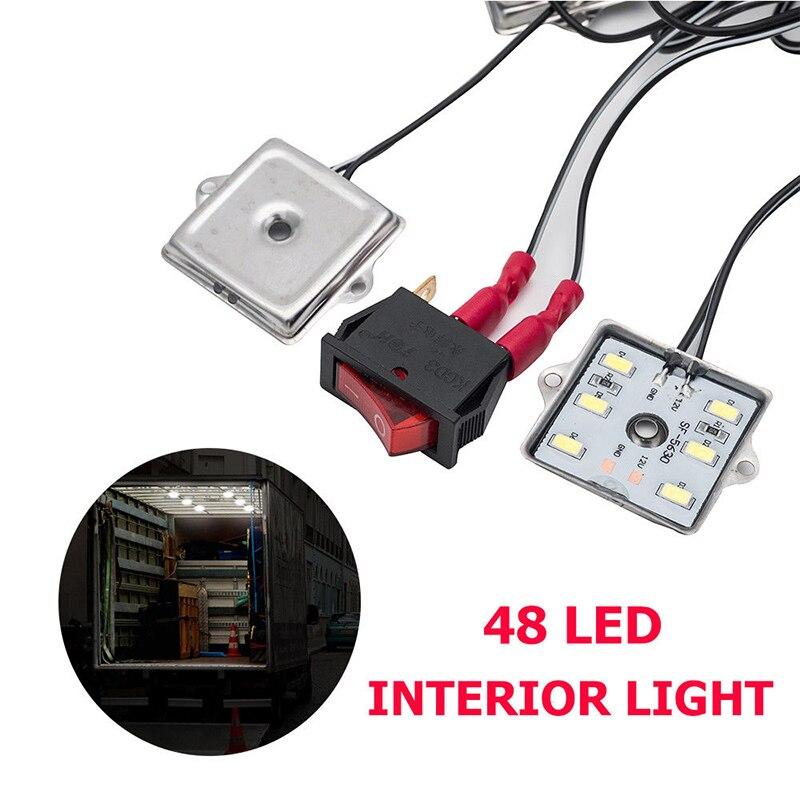12V 48 LED Bright White Led Interior Light Kit For Car Van Camper Caravan Boat New IP67