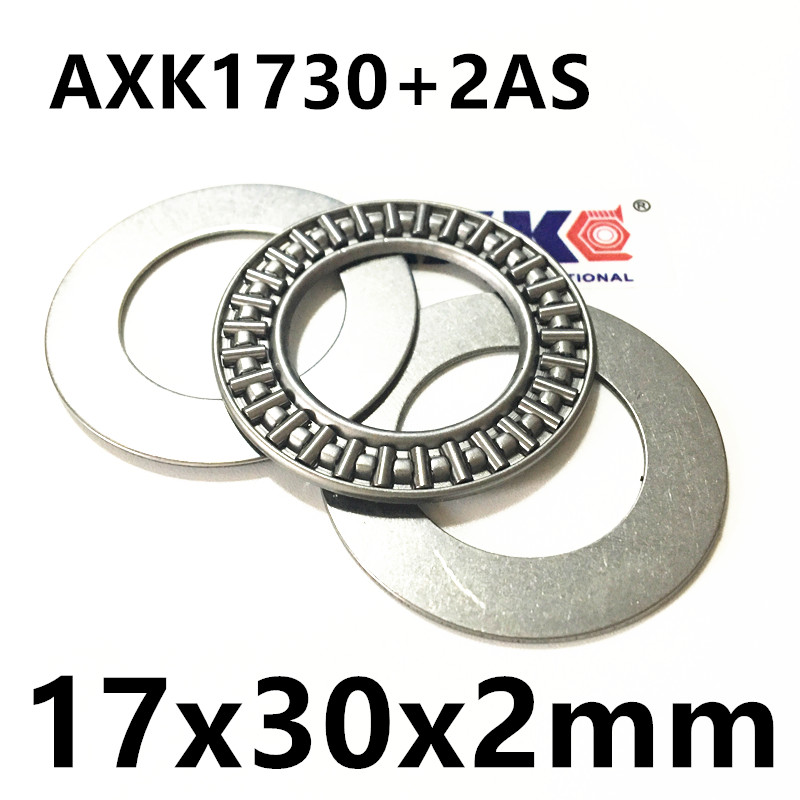 AXK1730+2AS Thrust Needle Roller Bearing & Washers 17x30x2mm for 17mm shaft hk0306 needle roller bearing 3mmx6 5mmx6mm 3x6 5x6 mm hk0306tn for 3mm shaft