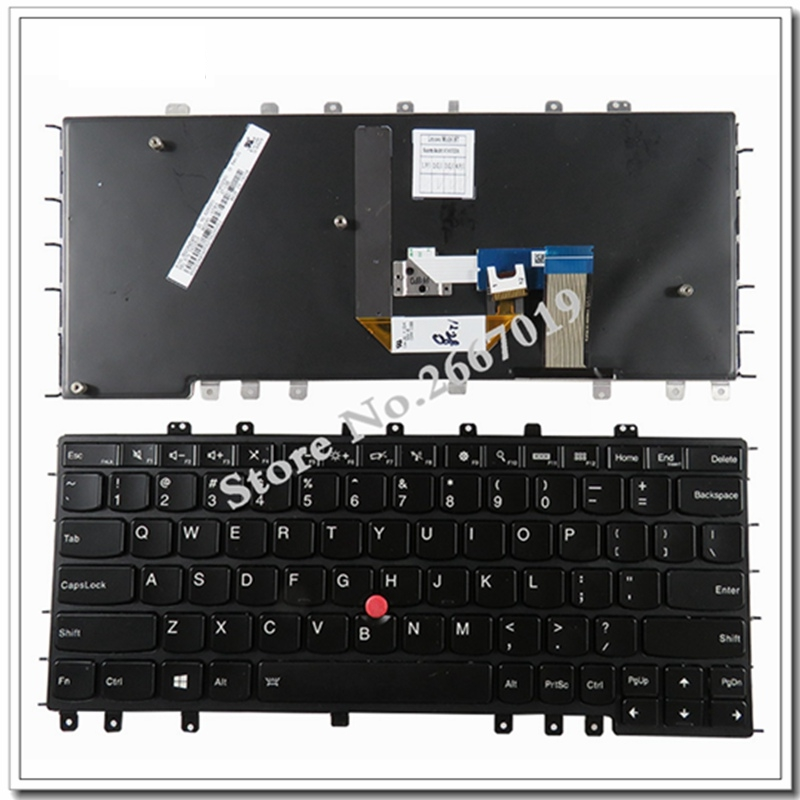 English NEW Keyboard For Lenovo For Thinkpad S1 For Yoga 12 For Yoga S240 US Laptop Keyboard With backlight neworig keyboard bezel palmrest cover lenovo thinkpad t540p w54 touchpad without fingerprint 04x5544